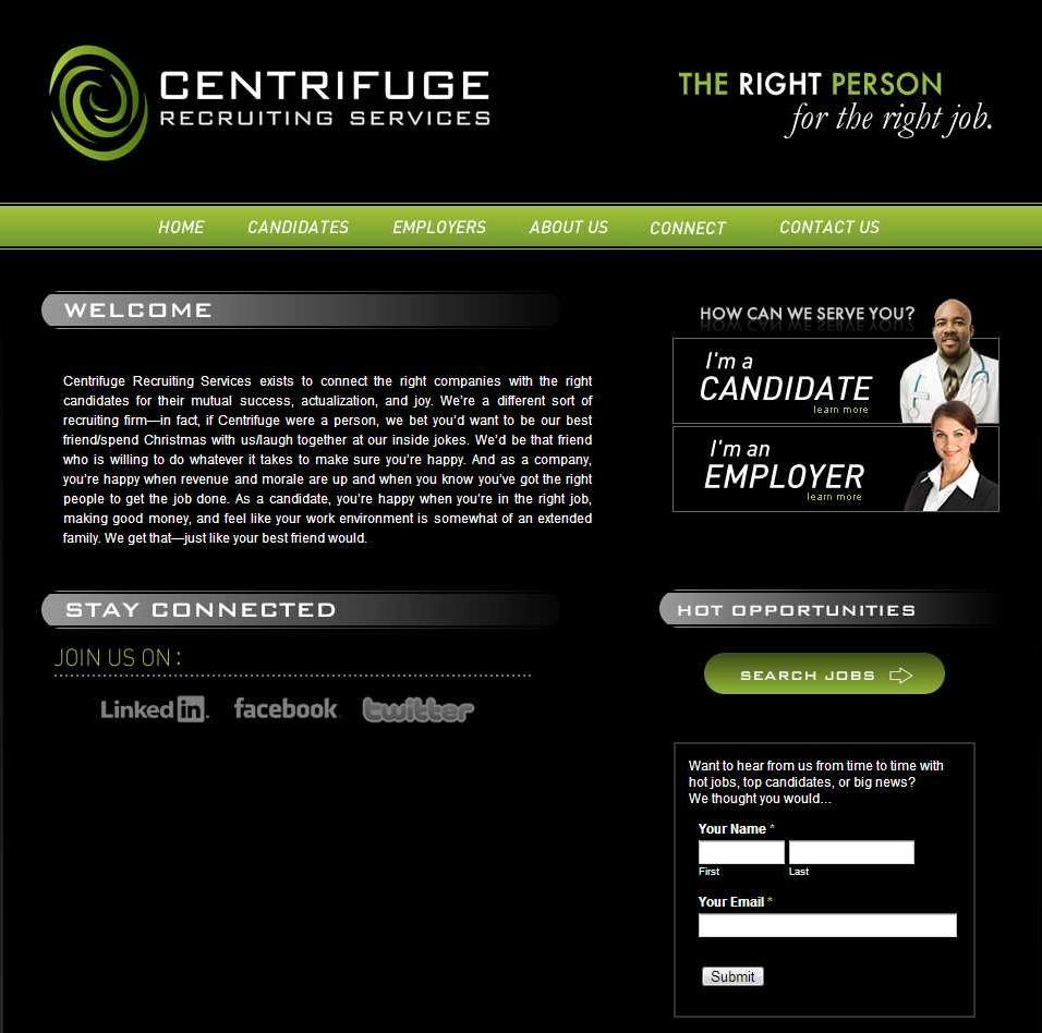Centrifuge Recruiting // Website