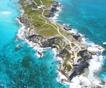 aerial footage of isla mujeres for the Travel Channel
