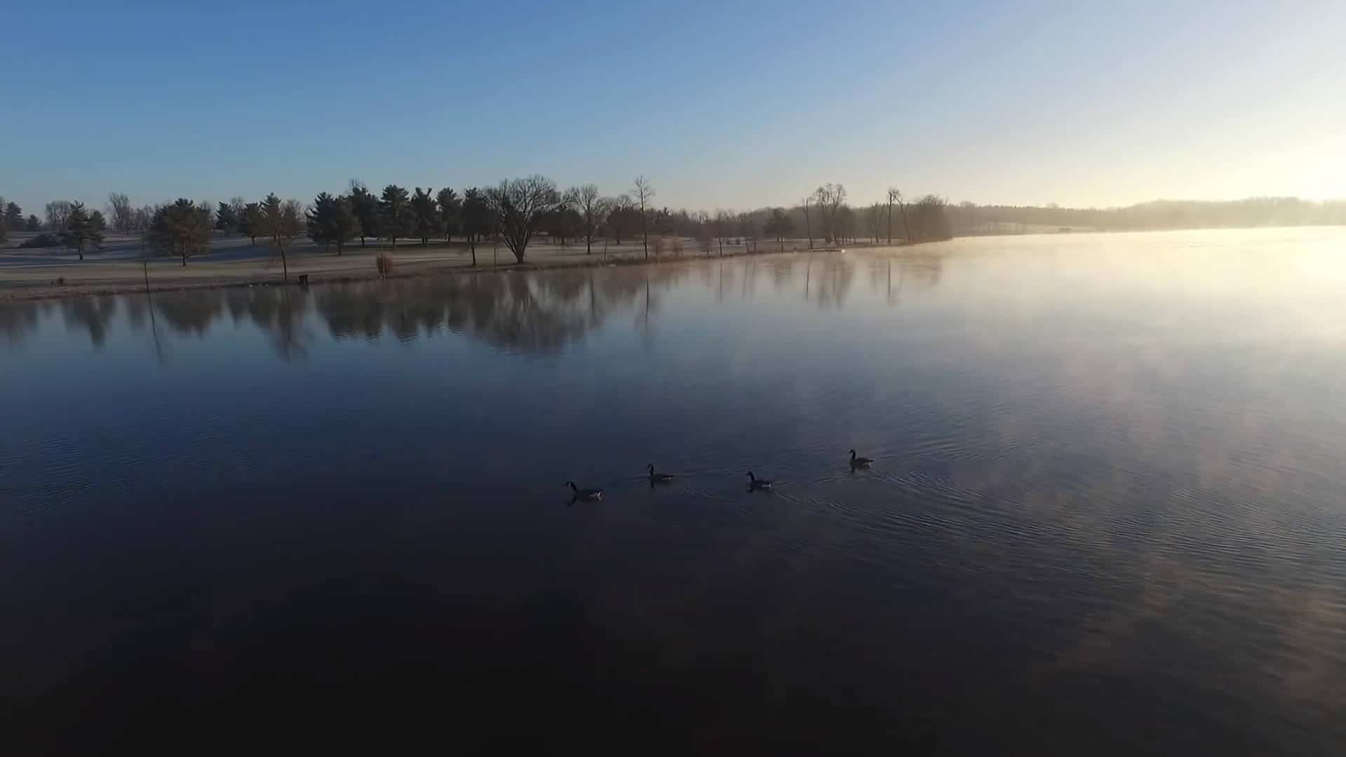 Aerial Footage of Winter in Lexington